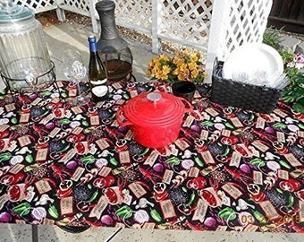 Custom Fitted Stay Put Reusable Cloth Tablecloth Cajun BBQ Print Table Cover Tablecloth Crab Feed Tablecloth