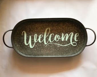 Welcome Decor Tray