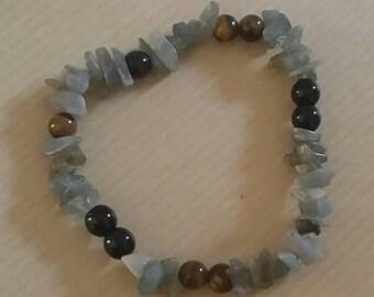 Labradorite and Onyx, Tiger eye protection bracelet