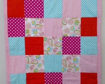 Crib/Toddler Pink Owl Quilt
