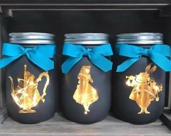 Wonderland Mason Jars