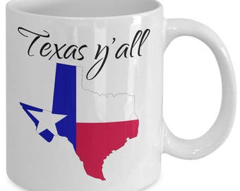 Texas Y'all Mug - Show Your Texas State Pride