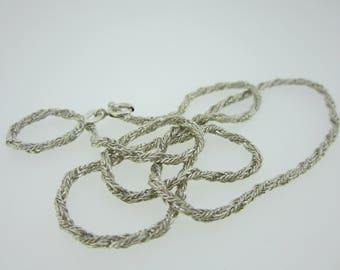 Vintage sterling silver rope link chain