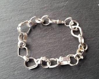 Hand Forged Sterling Silver Bracelet
