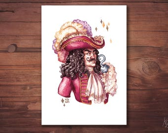 Card A6 postcard - Captain Hook