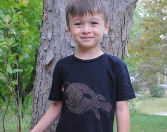 "Angler Fish Bleach ""Dyed"" T-shirt: Toddler and Youth Sizes"