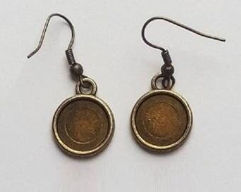 10 blank earrings 12mm (5 pairs)