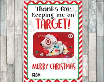 Target Gift Card Holder, Christmas Target Gift Card Holder, Christmas Target Teacher Appreciation Gift Instant download