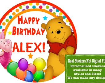 Winnie the Pooh/Winnie the Pooh Birthday/Winnie the Pooh Sticker/Winnie the Pooh Shirt/Winnie the Pooh Favors/Winnie the Pooh Invitations