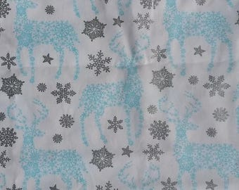 Christmas reindeer fabric fabric by the yard cotton by the yard christmas deer fabric christmas deer prints deer fabric reindeer fabric