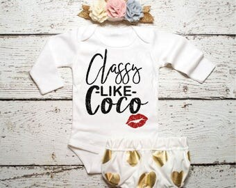 Baby Girl Bodysuit Classy like Coco Baby Girl Clothing BODYSUIT ONLY