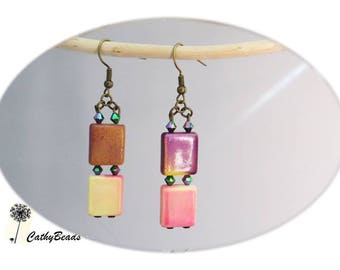 """""""Colorful cubic"""" earrings"""