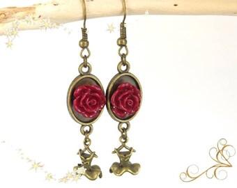 """Earrings """"my little ' little red dress"""""""