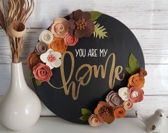You are my home, home sign, family sign, love, entryway, living room, neutrals