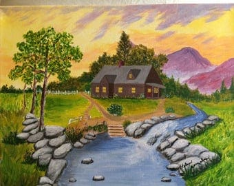 "Painting"" Evening by the Cabin"""