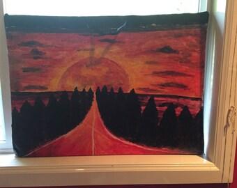 Sun and Moon--Art Portfolio Bag