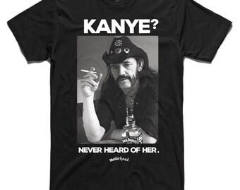 Motorhead Lemmy Kilminster Kanye West Funny 'AS Colour' T-Shirt