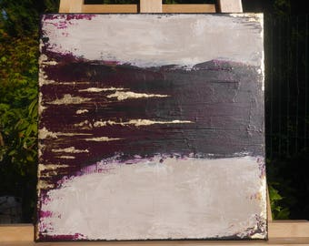 canvas modern purple and gold