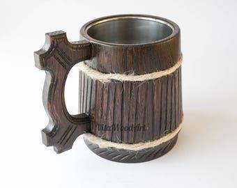 Wood mug Wooden Beer Mug Wood Gift Groomsman Beer Gift For Groom Beer Gift Wooden Mug Gift Mug Wooden Beer Tankard Chope En Bois