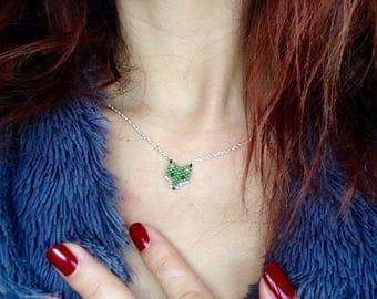 Green Fox necklace