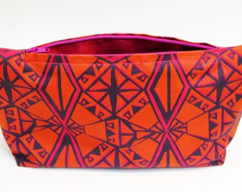 SALE - Screen printed bag in pink & yellow