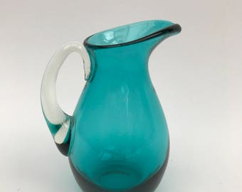 Small Teal/Blue Green Whitefriars Jug