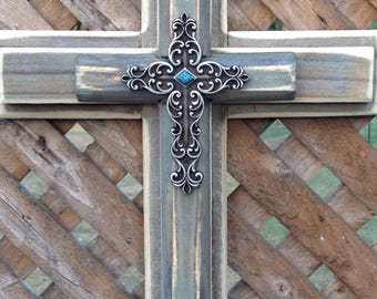 Rustic Cross, Cross Wall Decor, Reclaimed Wood, Decorative Wall Cross, Wooden Cross