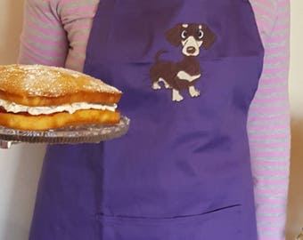 Sausage dog Cooking Apron embroidered / Daushound