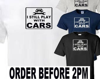 still play with cars t shirt all sizes upto 5xl free first class postage uk