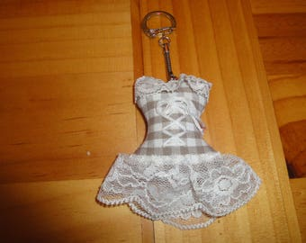corset-shaped Keyring