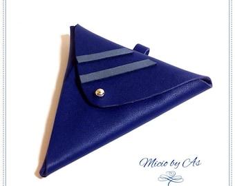 Blue triangle encuir by Micio by ACE wallet