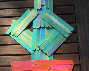 Wood sign - cactus
