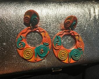 Vintage Multi-Colored Earrings