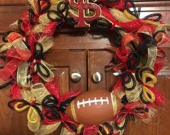 Florida State University Football Wreath