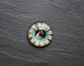 Cabochon 20 mm glass clock