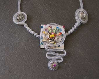 Original wire FOB charm necklace
