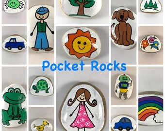 Back to school gift etsy pocket rocks comfort stones pocket fidgets gifts for kids gift for students negle Gallery