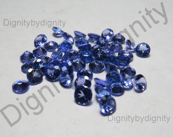 Natural Tanzanite 3MM Faceted Round Stone - 1 To 25 Piece - 3MM Faceted Tanzanite Round Stone