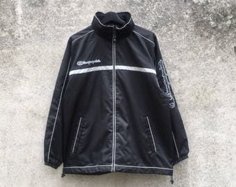 CHAMPION vintage 90s Champion Products embroidery sleeves spellout windbreaker jacket size M
