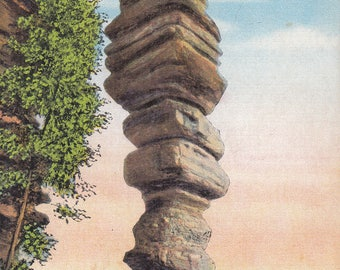 Vintage Kentucky Postcard - Chimney Rock, Daniel Boone's Cave, Red River Gorge