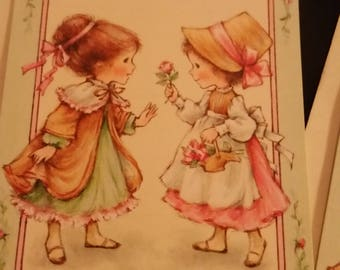 "Vintage Greeting Card - Vintage Hallmark Invitations * Little Girls - Flower Girls ""Please Come"" Cards Unused"