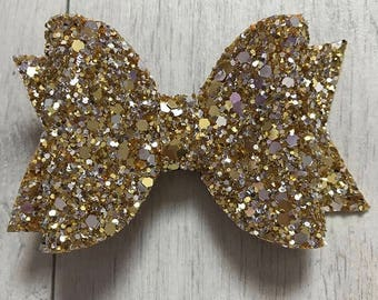 Glitter, Tulle, leatherette hair bows