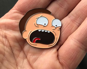 Rick and Morty Morty enamel pin