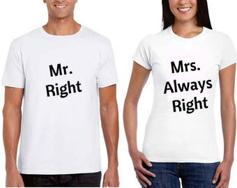 Valentines day gift Couple Shirts Matching Couple Shirts Couple Shirts Funny Couple Outfit Husband and Wife Shirt Anniversary Gift for him