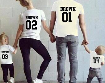 Family Custom Name Shirts Family t-shirts Custom name Custom number shirt Matching Shirts Family Outfits Squad Shirts Personalized Shirts