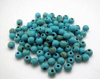 200 4mm Turquoise Round gemstone beads