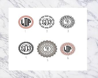 Monogram Decal with Frame | Car Decal | Monogram Decal | Monogram | Yeti Monogram Decal | Car Monogram | Laptop Decal | Vinyl | Yeti Sticker