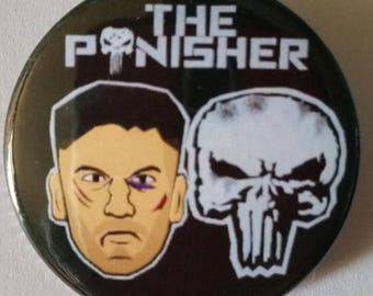 The Punisher. Custom 38mm Pin Badge.