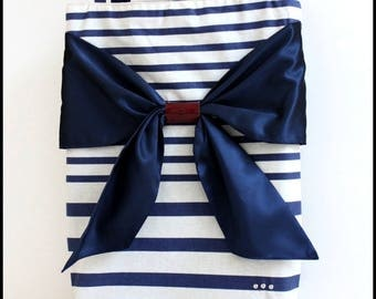 """Bag """"In the Navy"""" striped canvas"""
