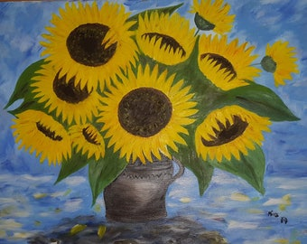 1, Picture of Sunflowers